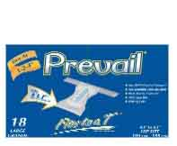 Prevail T Disposable Brief Large, Case of 72